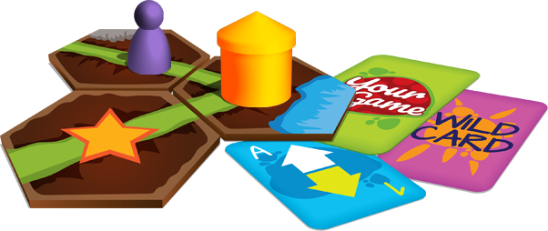 Cards and Meeples from Print & Play