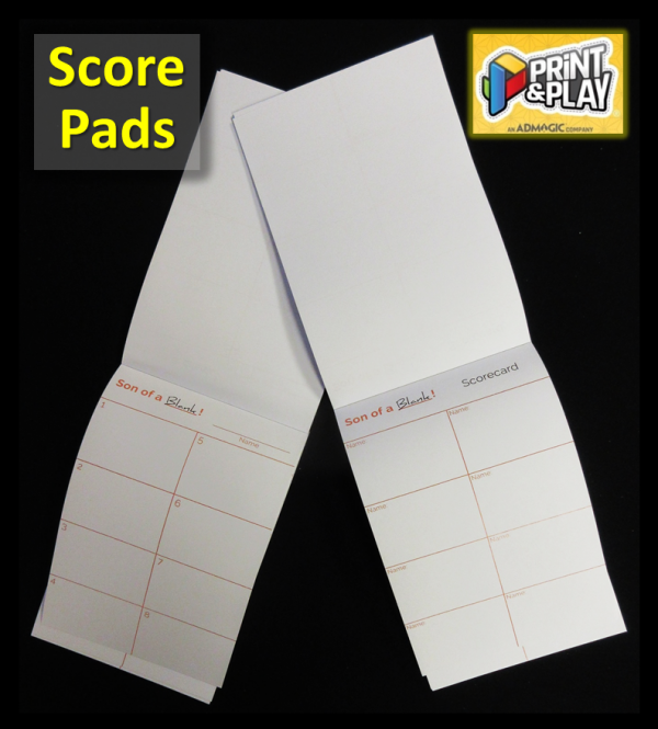 Custom Score Pads