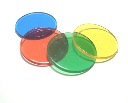 "Plastic Transparent Circular Disc (1"")"