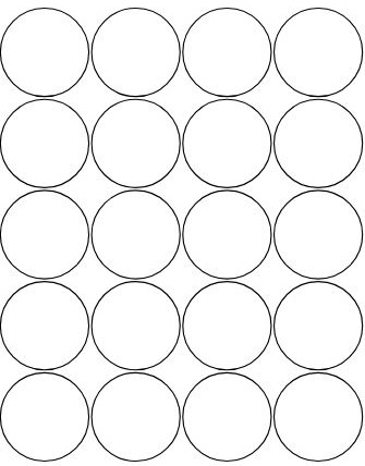 Impeccable image within printable circle stickers